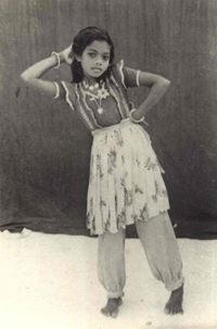 Gaage Naima as a young dancer