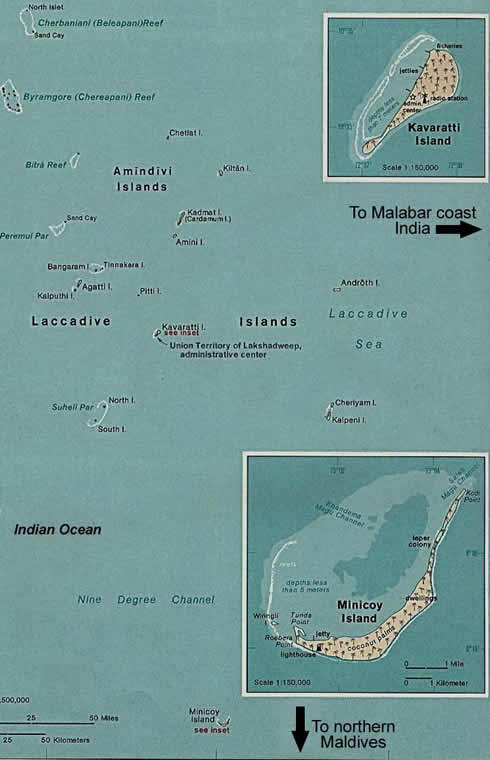 laccadives map 1976
